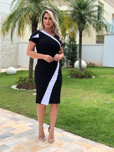 73df568809 Vestido Feminino Festa Branco C preto Lindo Novo Lançamento à venda em Vila  Bom Jardim São Paulo Zona Sul São Paulo por apenas R  129