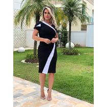 66a03d34bc Vestido Feminino Festa Branco C preto Lindo Novo Lançamento à venda ...