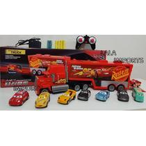 Caminhão Mak Controle Bat Recarregável + 8 Carrinhos Cars 3!