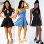 Vestido Roupa Feminina Casual Decote Lindo Pronta Entrega