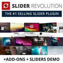 Slider Revolution Wordpress Plugin V5.4.8 + Add-ons + Pack