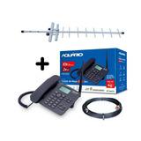 Kit Celular De Mesa Rural Ca-42s Antena Cabo 15m Aquario