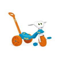 Triciclo Infantil Com Haste Removível Velocipe Bandeirante