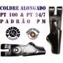 produto Coldre Alongando Em Couro Calibre .40-24/7 Pt100 E Similares