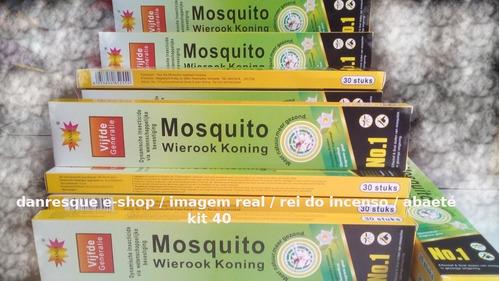 Incenso 40 Caixas Mata Pernilongo Carapanã Mosquito  0,15%