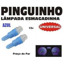 Lampada Esmagadinha Pinguinho De Led 12v - O Par - Azul