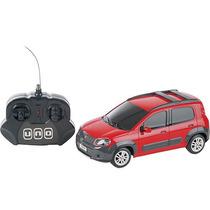 Fiat Novo Uno Controle Remoto 1:18 Cks Vermelho