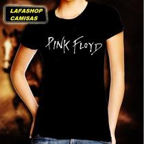 Camiseta Pink Floyd Baby Look Feminina Camisa Mulher Bandas