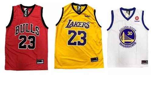a99b1275d6 Kit 5 Camiseta Regata Basquete Bulls Lakers Cavs Golden Usa