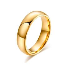 Alianças Tungstênio Banhado Ouro Fina Para Casamento Noivado