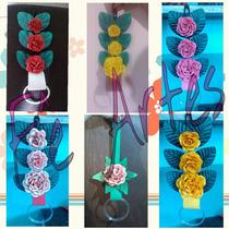 Porta Pano De Prato Com Flores De Eva - Artesanal