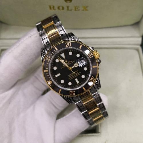 8b3bbd3599e Relógio Rolex Submariner Gold Skull Eta Swiss +cxa E Papeis