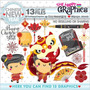 Kit Scrapbook Ano Novo Chinês Imagens Clipart Cod244