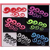 Alargador De Orelha Espiral 2, 3, 4, 5, 6, E 8mm..