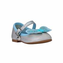 Bibi Sapatilha Infantil Anjos Holográfico Prata / Azul