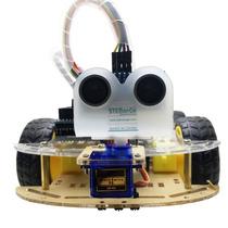 Carro Robo Diy Inteligente P/ Arduino 4wd Programavel