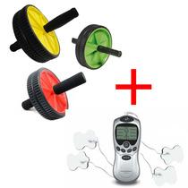 Fisioterapia Acupuntura Tens Fes Portátil + Roda Abdominal