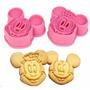 Cortador De Biscoitos Mickey E Minnie Pasta America,biscuit