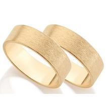 Par De Alianças Folheadas Com 3 Camadas De Ouro 18k Rommanel