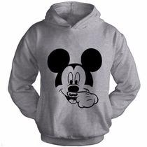 Moletom Blusa De Frio Casaco Personalizado Mickey Bigode!