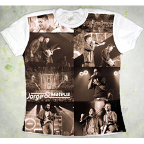 Camiseta Jorge E Mateus Baby Look Tom Sépia