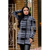 3913dc384 Sobretudo Feminino Casaco De Inverno Xadrez Com Botões à venda em ...