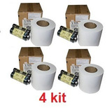 Apel & Ribbon Para Impressora Kodak 605 E 6800 E 6850 Kit 4