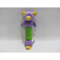 Brinquedo Mordedor Cachorro Pelúcia 20x8x4,8 Urso Roxo
