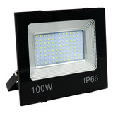 Refletor De Led 100w Holofote Bivolt Prova D/água Ip66 Frio