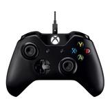 Controle Joystick Microsoft Xbox One Controller + Cable For Windows Preto