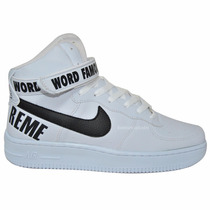 Nike Air Force Supreme Word Famous Exclusiva Frete Grátis!!!