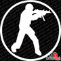 Adesivo Gamer Cs Go Source 1.6 1.8 Conter Strike Pc 15cm