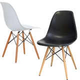 Cadeira Charles Eames Wood Eiffel Cores Branca Ou Preta