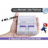 Super Nintendo 2 Controles 8 Mil Jogos.n64+ Ps1 + Nf.