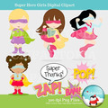 Kit Scrapbook Digital Super Heróis Girls # 3