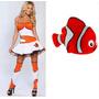 Fantasia Feminina Nemo Procurando Nemo Pronta Entrega