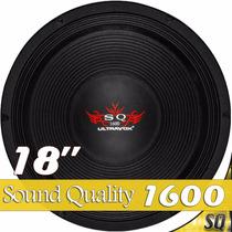 Alto Falante Woofer 18 Ultravox Sound Quality 1600 Rms 4-8