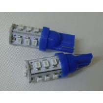 Kit 20 Lampada Led Automotiva Pingo 14 Leds-azul