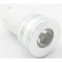10 Lâmpadas Mini Dicroica Mr11 Bi-volt 3w Gu10 3k Luz Quente