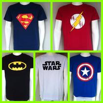 Camisa Super Heróis Diversos Modelos E Estampas Promoção!