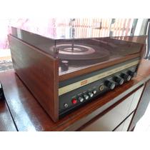 Vitrola Toca Disco Amplificado Cce Collaro C Agulha Entr Aux