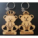 Chaveiros Ursos Com Nome Mdf Cru Lembrancinhas 06 Cm