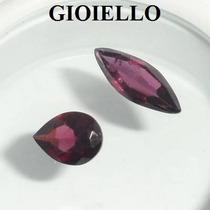 Leilão Lote 2 Gemas Rodolita Gota E Navete Natural G751