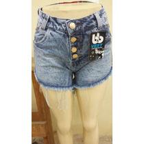 Short Cintura Alta Hot Pants Todo Detalhado, Levanta Bumbum