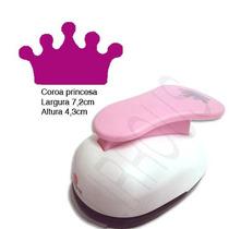 Furador Scrapbook Eva Coroa Princesa Corte 7,2cm 3 Polegadas