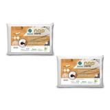 Kit 2 Travesseiro Nasa Cervical Ortopédico Premium Nap