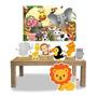 Kit Display Mdf Safari Com 07 Pçs + Painel Grande Original