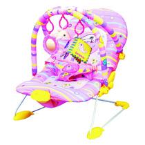 Cadeira Cadeirinha Bebê Descanso Musical Vibratoria Rosa