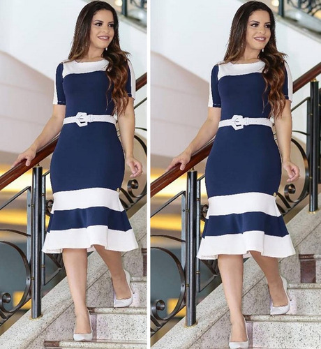 4406f86d26 Vestido Social Evangelico Tubinho Roupas Moda Evangelicas à venda em ...