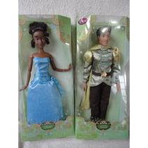 Boneca Tiana E Naveen Disney Articulados 30 Cm Originais
